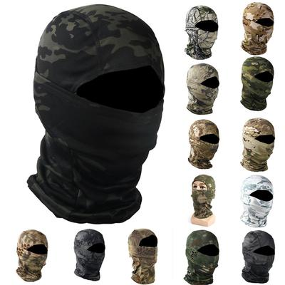 Unisex Army Tactical Mask Balaclava Hood Military Dustproof Quick-Drying Camouflage