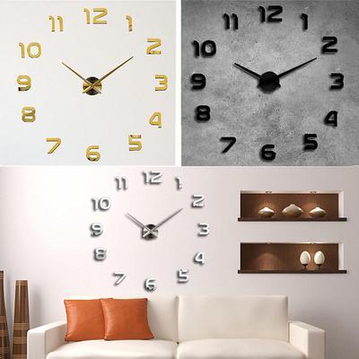 Acrylic 3D DIY Quartz Wall Clock Modern Living Room Bedroom Large Mirror Clock Wall Hanging Decor EVA Wall Sticker Clocks