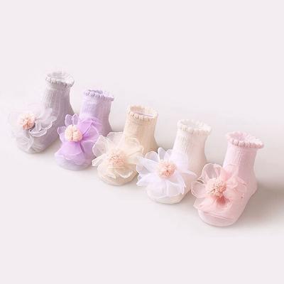 Baby Girl Cute Socks Cotton Lace Flower Princess Socks Party Infant Children Soft Crib Socks