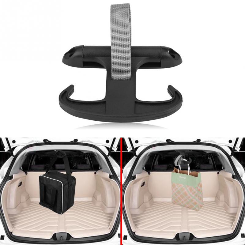 Car Black Horn Trunk Bag Hook Grocery Hanger For VW Passat Jetta Audi A4 Cargo
