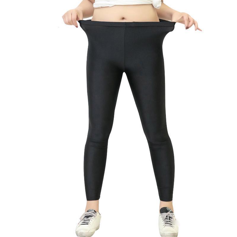Leggings женщины Большой размер брюки Твердые женщины Летние Тонкие растяжки Плюс Размер тренировки йога брюки – купить по низким ценам в интернет-магазине Joom