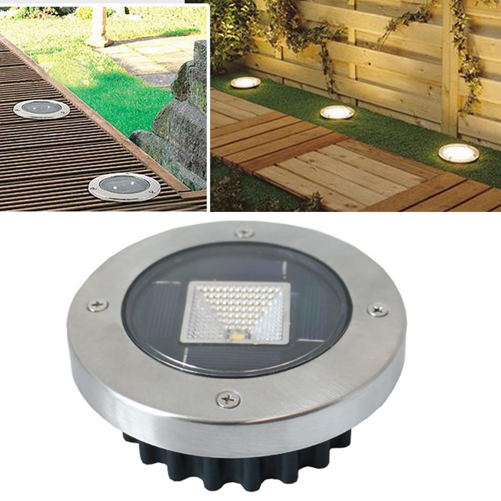 12LED Solar Power Buried Light Under Ground Lamp Outdoor Lawn Way Garden Decking