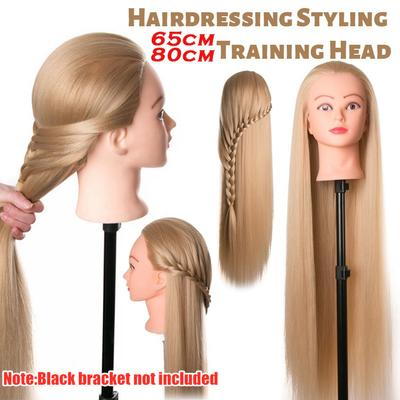 White 24 30 Real Hair Hairdressing Practice Head Training Mannequin Doll Clamp Buy At A Low Prices On Joom E Commerce Platform