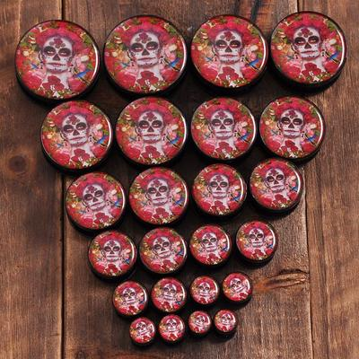 Buttons 50pcs Christmas Holiday Wooden Collection Snowflakes Buttons Snowflakes Embellishments 18mm Creative Decoration Removing Obstruction Arts,crafts & Sewing