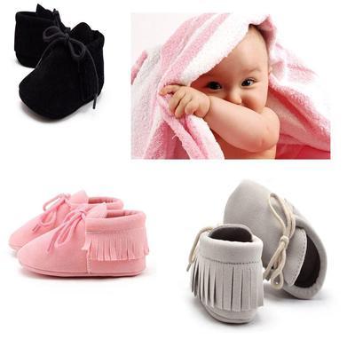 Newborn BABY GIRL BOW anti-dérapant Crib Chaussures Semelle Souple Sneakers Prewalker 0-18 M