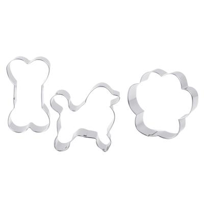 3D Dog Puppy Silicone Cake Fondant Plunger Cutter Cookies Biscuit Pastry Mold