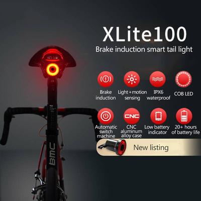 Smart Wireless Remote Lamp USB Bicycle Bike Indicator LED Rear Tail Laser Light