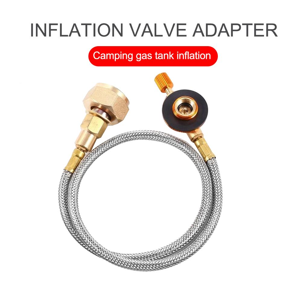 Details about  /Inflatable Valve Gas Stove Safety Flat Cylinder Valve Adapter Flat Cylinder