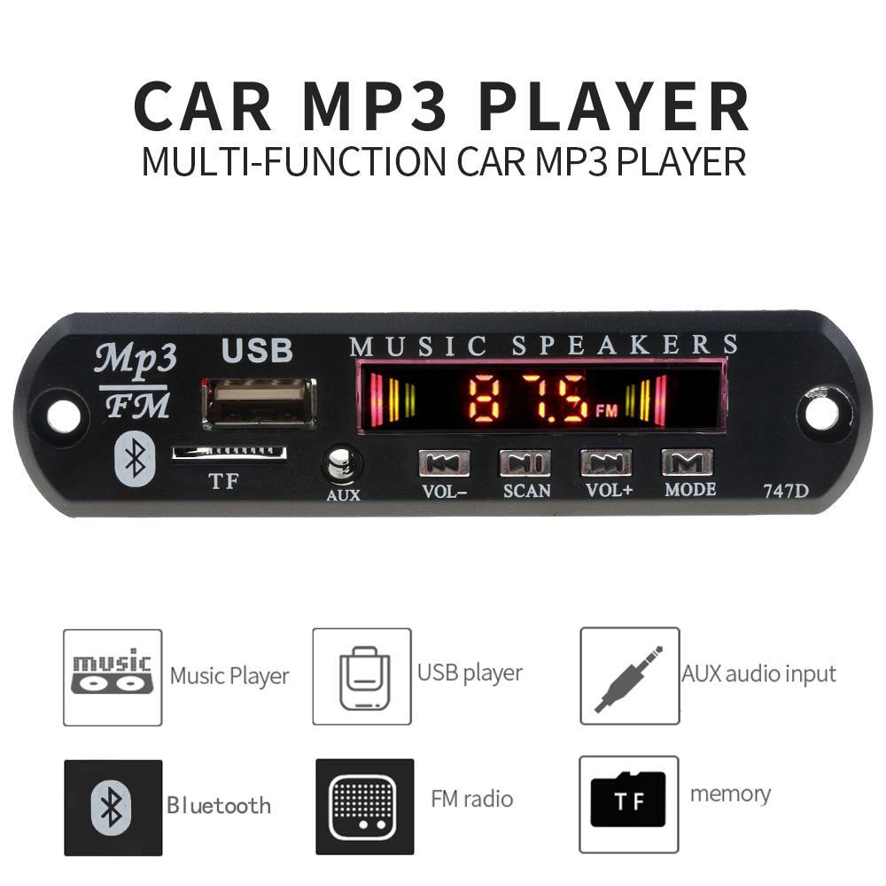 Приемник Bluetooth адаптер Автомобильный комплект MP3 плеер декодер Совет FM радио TF USB 3.5 мм AUX аудио модуль фото