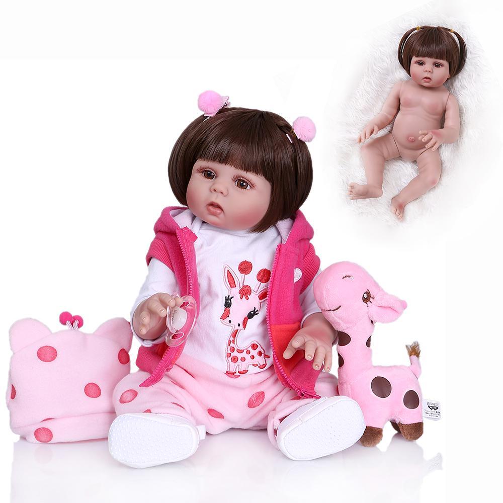 BEBE BAMBOLA 48cm fatti a mano in silicone RINATO Baby Adorabile realistici Bambino Girl Kid