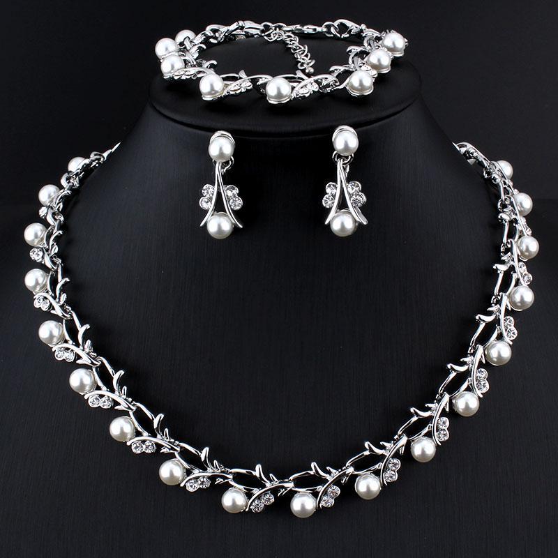 Imitation Pearl Crystal Bracelet Bangle Fancy Bridal Fashion Jewellery GIFT BOX