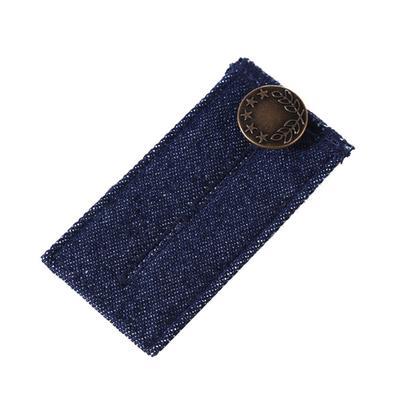 aac959bcc Extensor de cintura elástico Jeans pantalones botón extensor ajustable  cintura expansores (azul oscuro)
