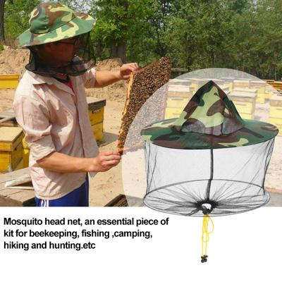 3x Mosquito Bee Insect Mesh Net Midge Insect Camping Bug Hat Protector Head Face
