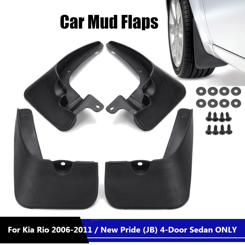 For Kia Soul Basic 2010 2011 2012 2013 Car Mud Flaps Splash Guards Mudguard Front and Rear Fender Accessories 4Pcs Set with Screw