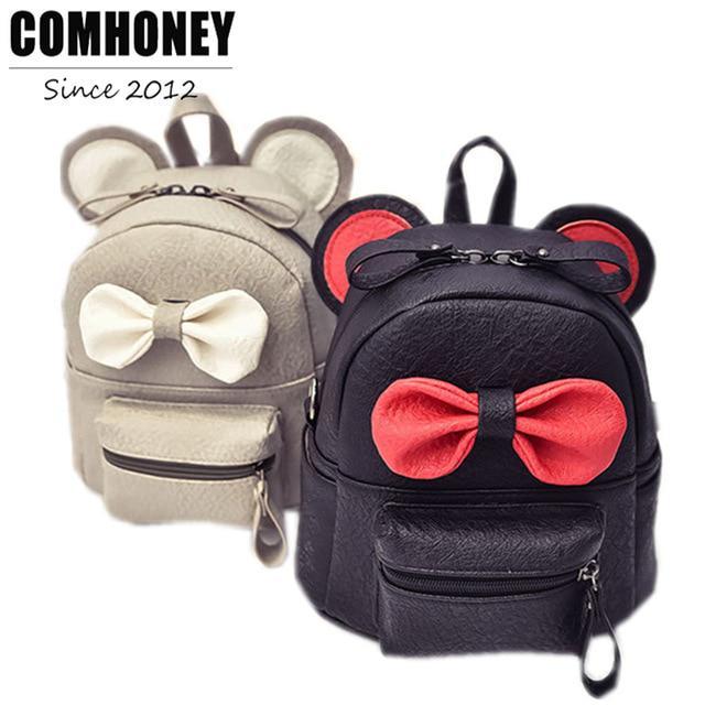 0d804a45d62b Pajarita mochila para niñas lindos Mini Escuela mujeres PU cuero Kinder  niños bolso - comprar a precios bajos en la tienda en línea Joom
