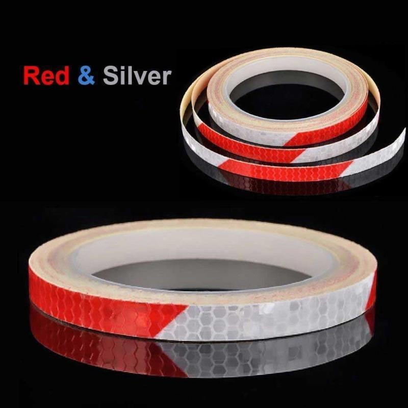 8M Reflective Stickers Hi Vis Viz Safety Car Bicycle Cycling DIY Reflector Tape