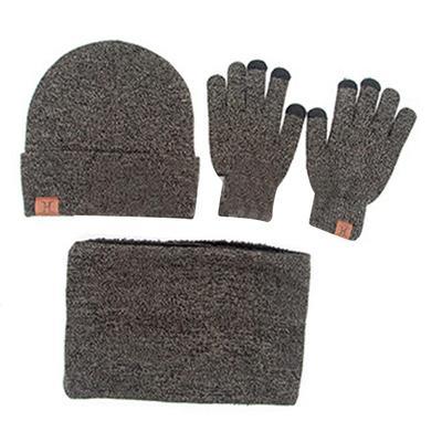 Conjunto de invierno de las mujeres de punto sombrero guantes bufanda para  hombres Moda invierno cálido 7bdc2c033b2