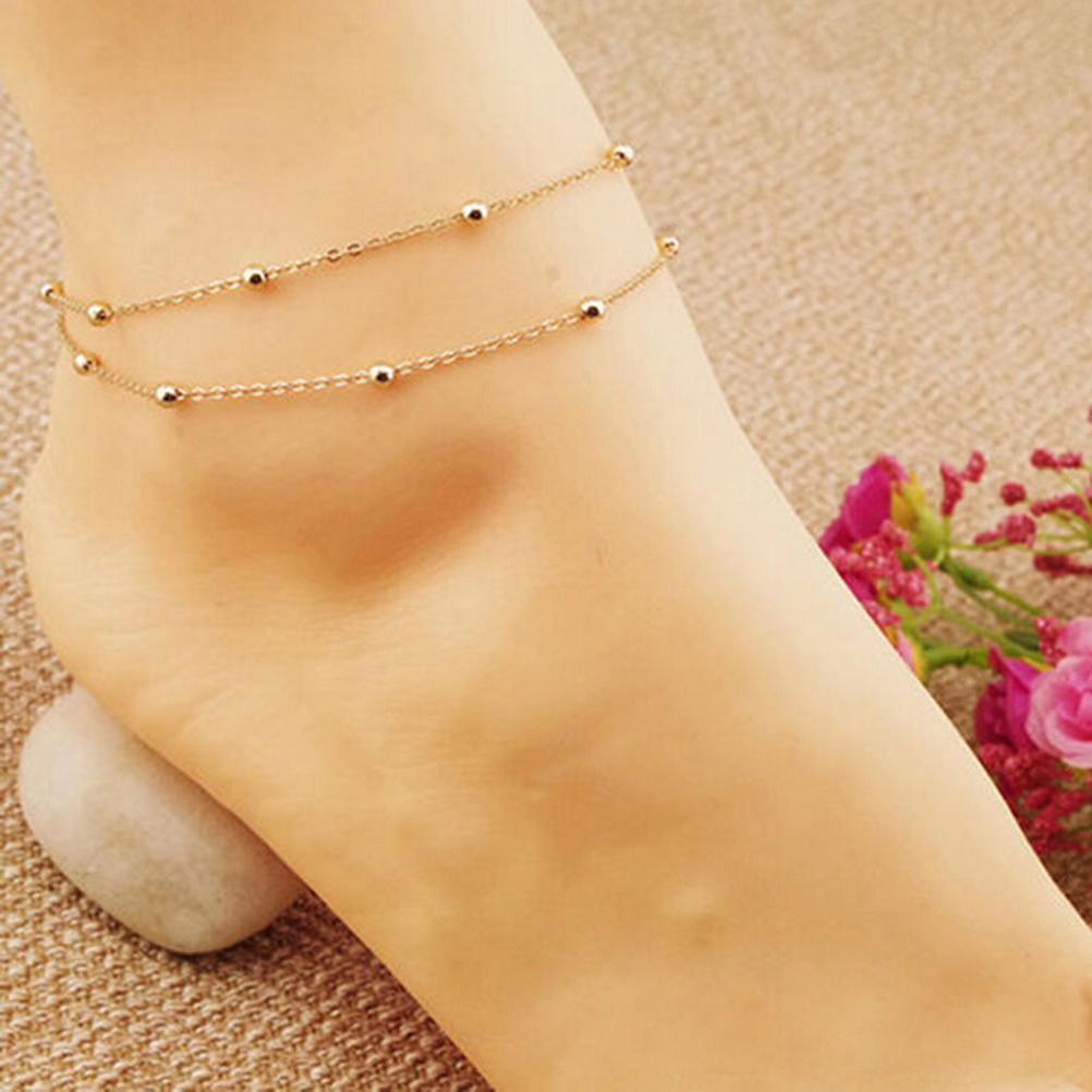 Adjustable Plain Five Pointed Star Pendant Chain Anklet Beach Bare Foot Bracelet
