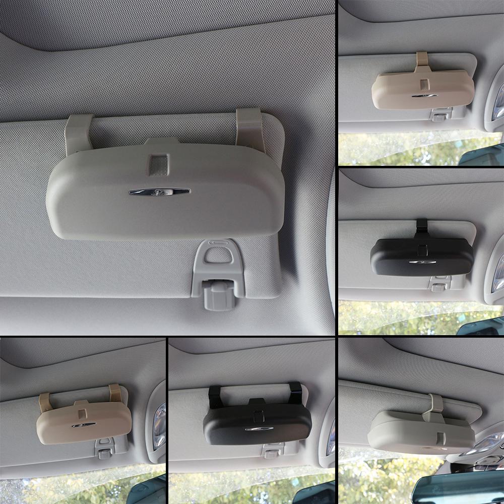 Автомобильная очки держатель случае Автоаксессуары очки хранения коробка ABS фото