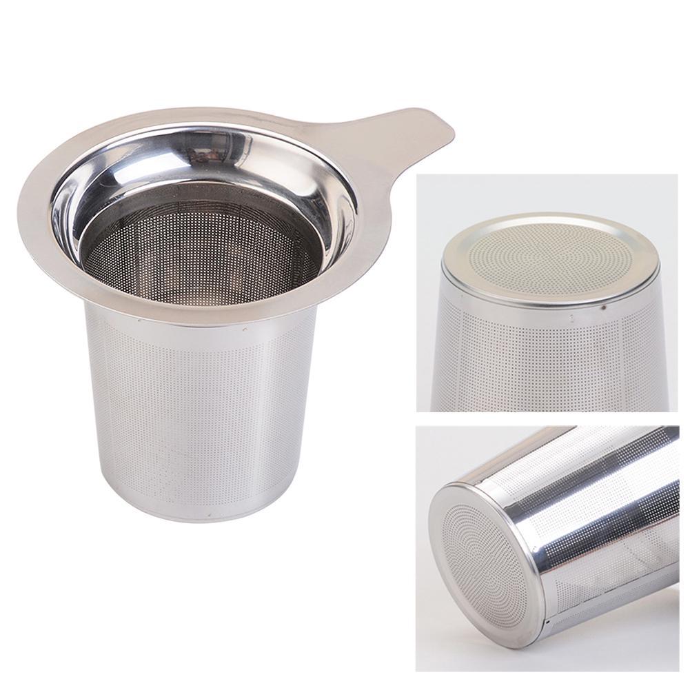Reusable Stainless Steel Mesh Tea Infuser Strainer Teapot Tea Leaf Spice  W2