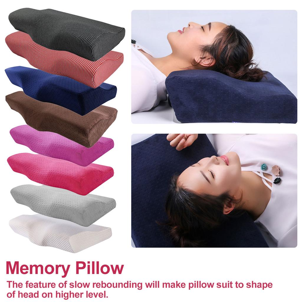 Memory Foam Pillow Cooling Gel Reversible Orthopedic Support Neckfor Home Office