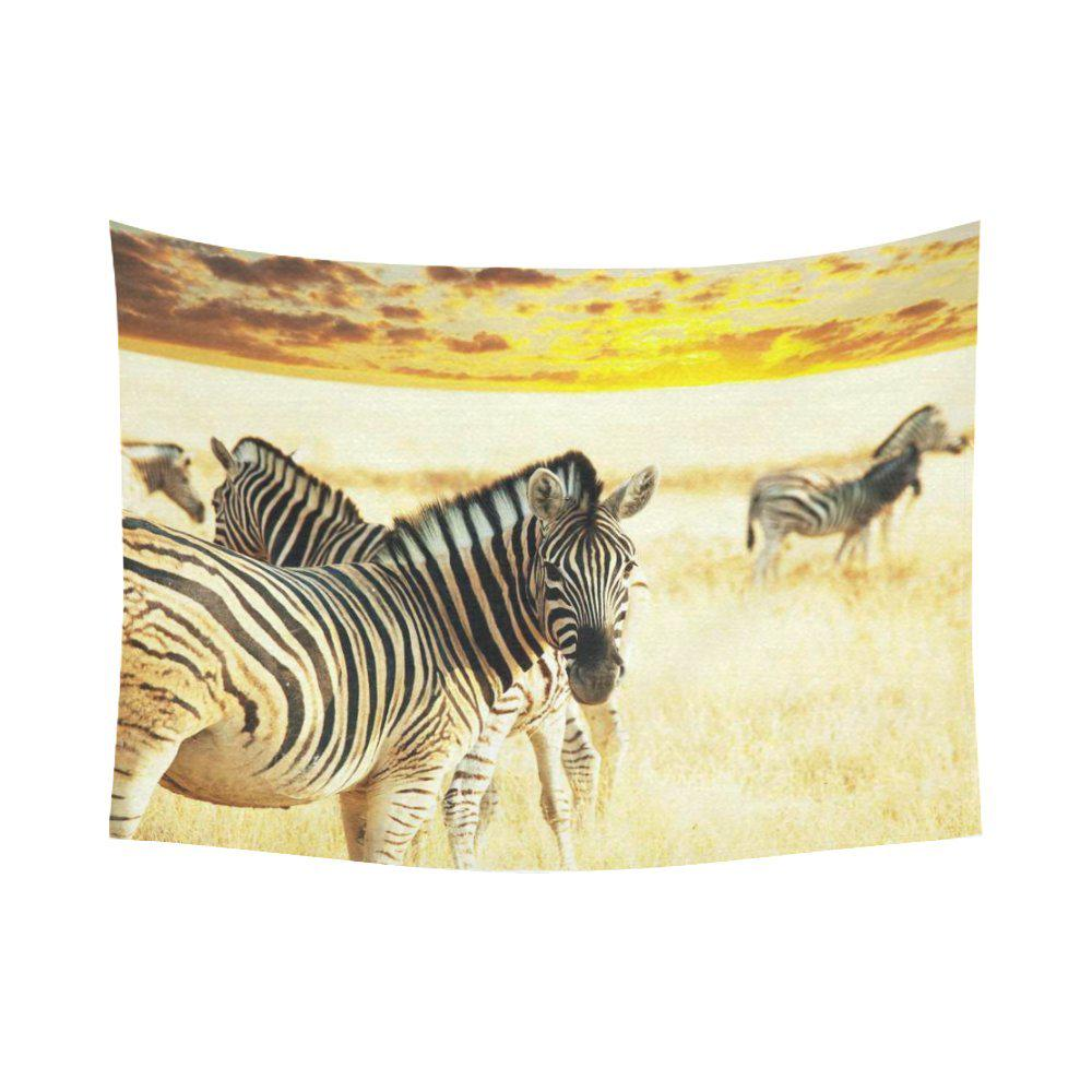 Animal Wall Art Home Decor African Wildlife Zebras Sunrise Landscape Tapestry 80x60inch 150x200cm Buy At A Low Prices On Joom E Commerce Platform