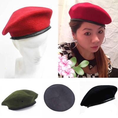 96b7ded8e727d Wool Beret Cap Unisex Men Women Military Army Soldier Uniform Hat Casual  Warm Adjustable Beanies