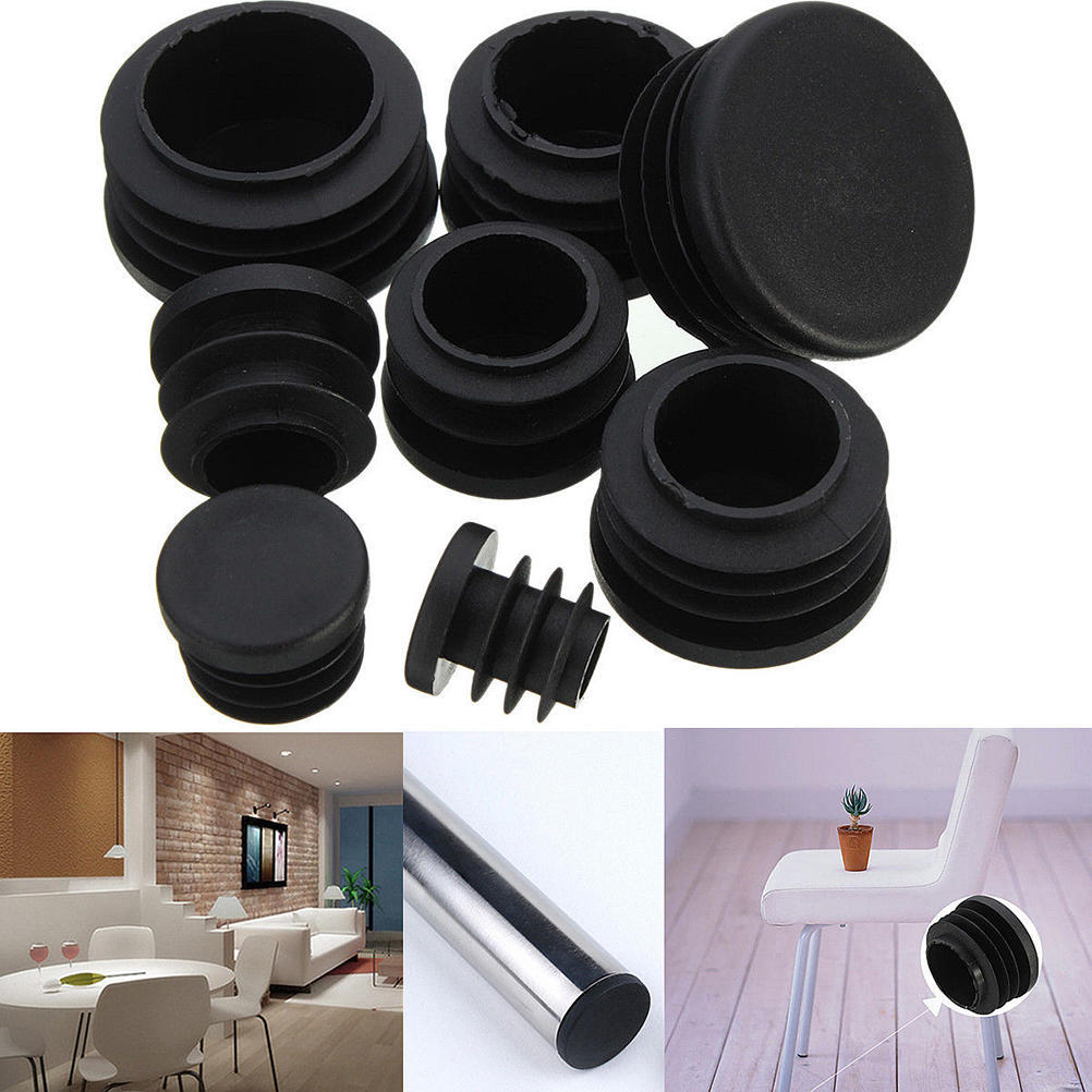 50mm Round Plastic Blanking End Caps Pipe Tube Inserts Plugs Bungs