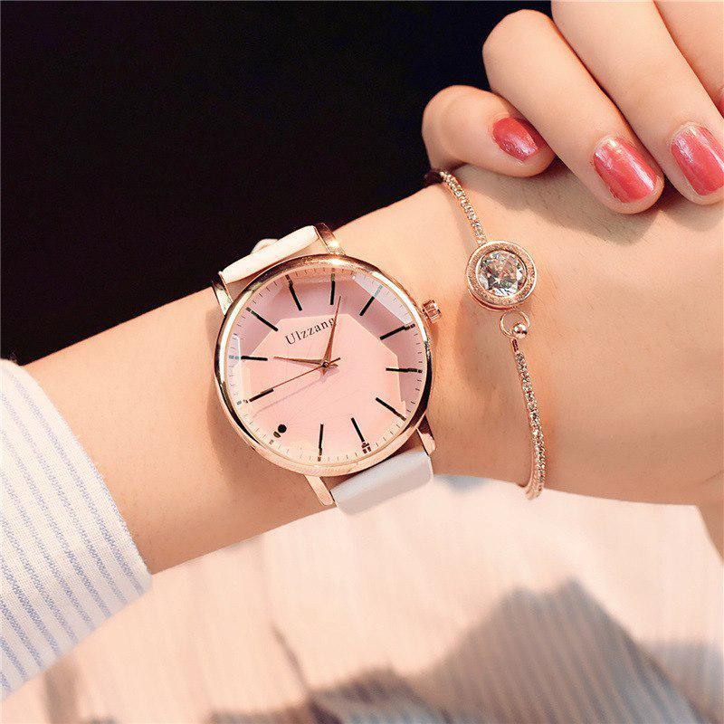 Циферблат дизайн женщин часы роскошь бренд моды кварца часы бренда популярны белые дамы кожа Часы фото