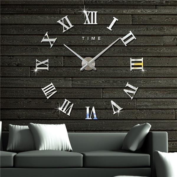 Estilo de reloj de pared sin marco 3D modernos relojes horas modelo ...