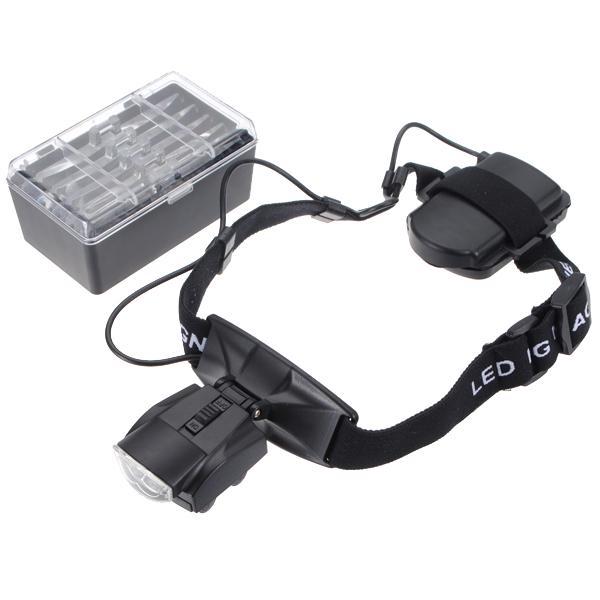 Stilvolle tragbare Kopf mit Brille Halterung Lupe mit LED-LichtH