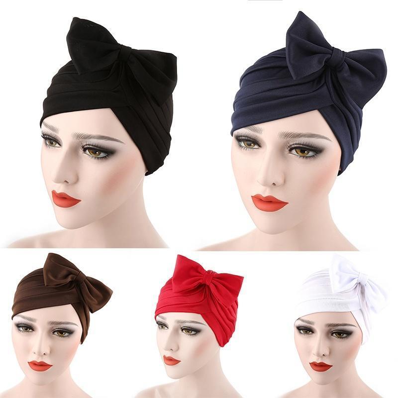 Mujeres arco turbante plisado sombrero quimioterapia cáncer cabello ...