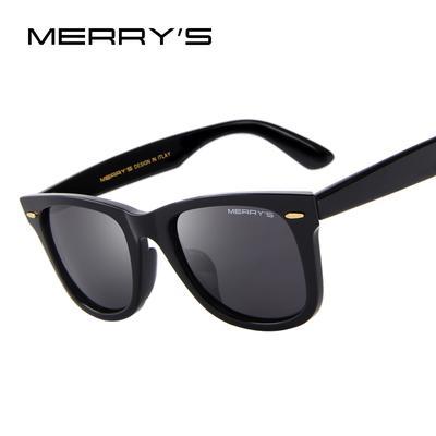 6273765047 MERRY S DESIGN Men Women Classic Retro Rivet Polarized Square Sunglasses