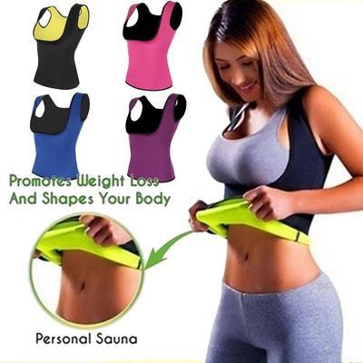 d07603eebc Neoprene Sauna Waist Trainer Vest Hot Shaper Summer Slimming Adjustable  Sweat Belt Body Shaper