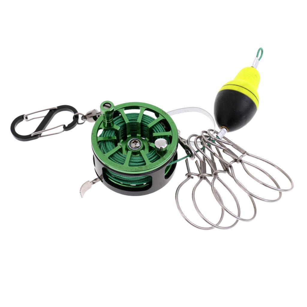 Stainless Steel Fishing Lock Buckle With Reel Portable Fish Grip Locks Belt