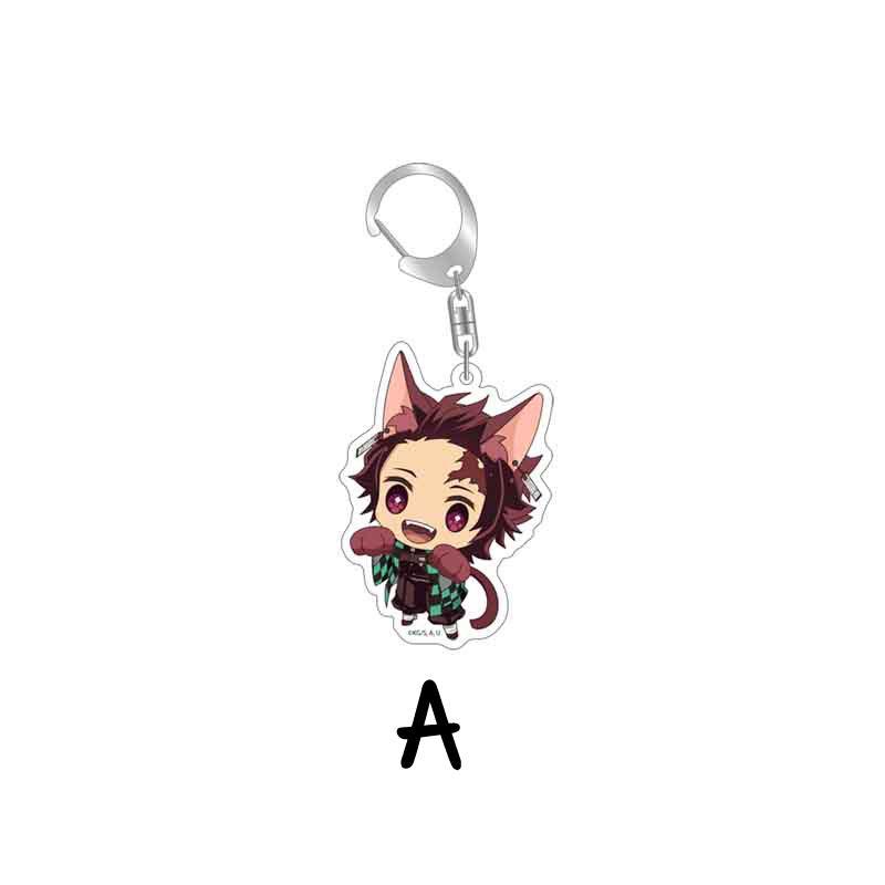 14 Styles Demon Slayer Kimetsu no Yaiba Anime Pendant Acrylic Keychain Keyring#d