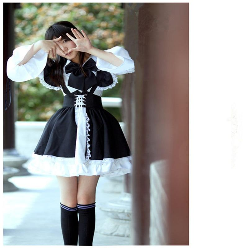 Women Maid Outfit Anime Long Dress Black and White Apron Dress Lolita Dresses Cosplay Costume-buy at a low prices on Joom e-commerce platform