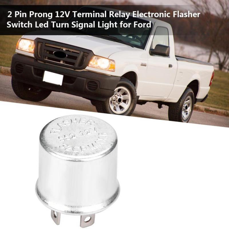 12V 2 Pin Prong Terminal Electronic Switch Relay Turn Signal Light Flasher