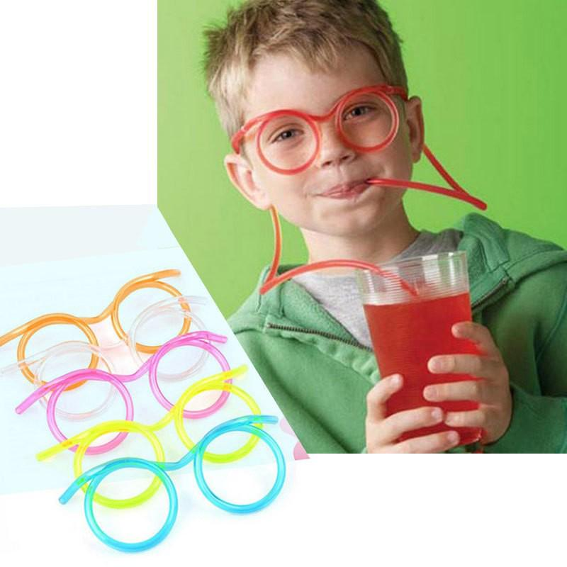 Трубочка для напитков в виде очков фото