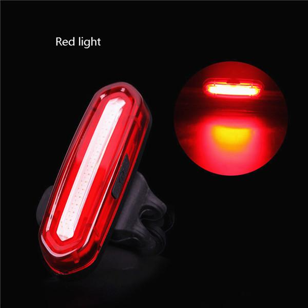 COB LED Rücklicht Fahrradlampe Hinten Leuchte USB MTB Bike Lampe Weiß/&Rot 6Modi