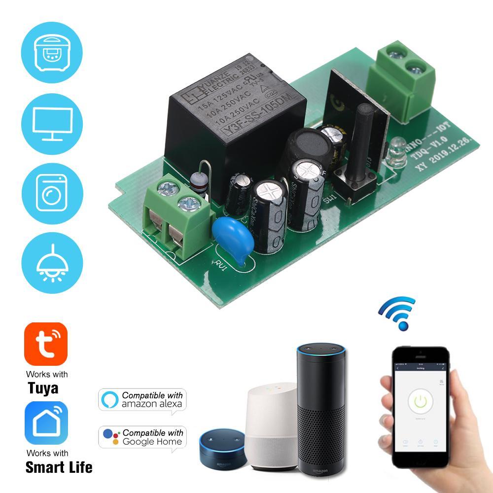 Tuya Smart Life WiFi Switch 10A//2200W Drahtlose Fernbedienung Schalter Timer APP