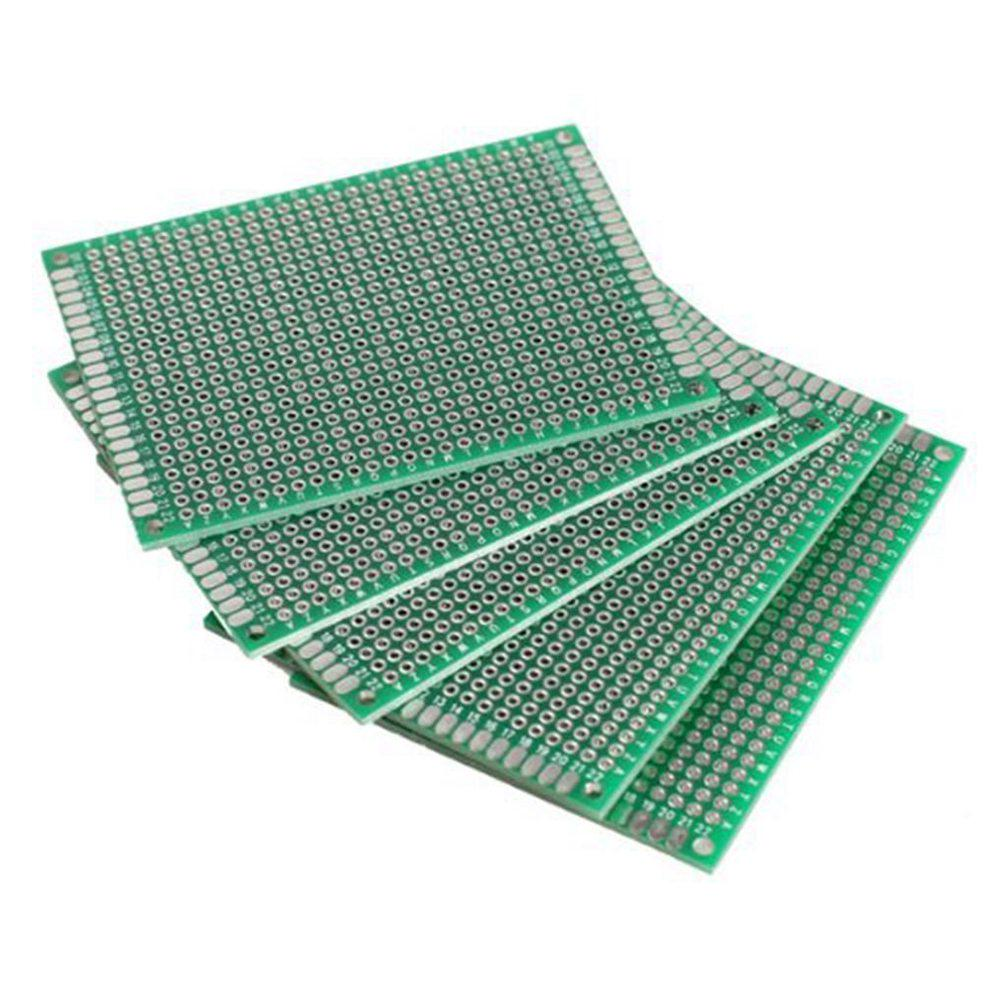 10 Pcs Double Sided Prototype Fr 4 Pcb Printed Circuit Board 12 Kit Prototyping Stripboard 2 Of 3