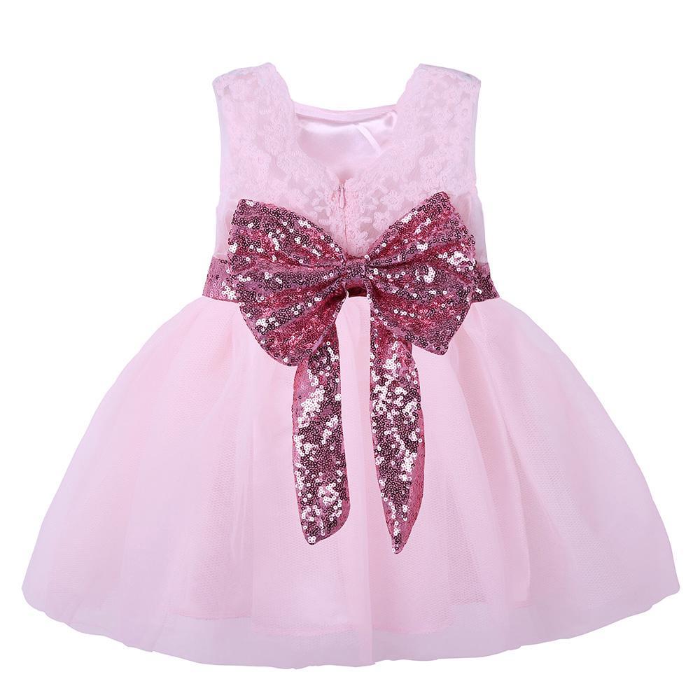 1c7079bcc9 Baby Girl Dresses Chrzciny Suknia Dziecięca Sukienka Koronki Łuk ...
