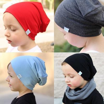 Toddler Newborn Kids Baby Boy Girl Infants Cotton Soft Warm Solid Color Hat Beanie Cap