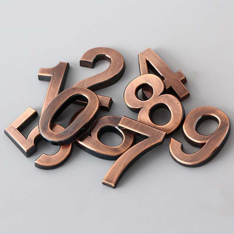 Номер Современный дом Отель Дверь Адрес Digits Наклейка Номер плита Знак 0-9 5CM