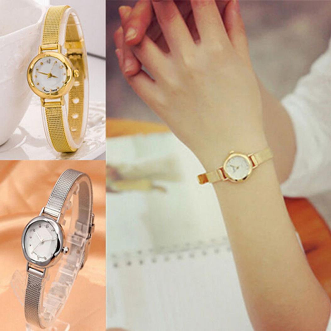 Женская мода сплава браслет горный хрусталь стиль инкрустированные Slim кварцевые наручные часы фото