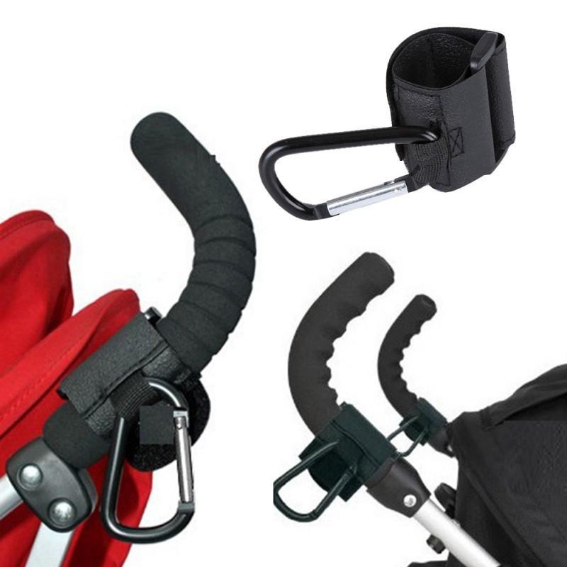 Premium 2pcs Buggy Clips Universal Stroller Hooks Clip Black