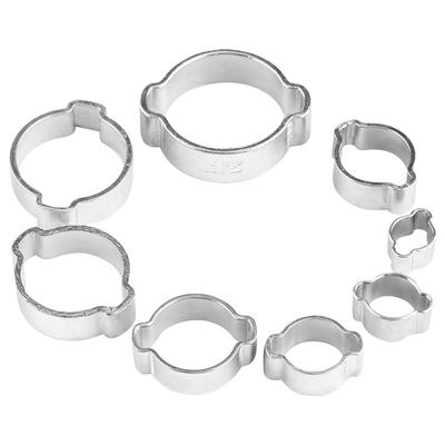 Size : 9mm Zyj stores Hose Clamp 10Pcs 6-15mm Pipe Clamp Hose Clamp Spring Band Type Fuel Vacuum Hose Silicone Pipe Tube Clip High Strength Elasticity Spring Hose Pipe Clamp