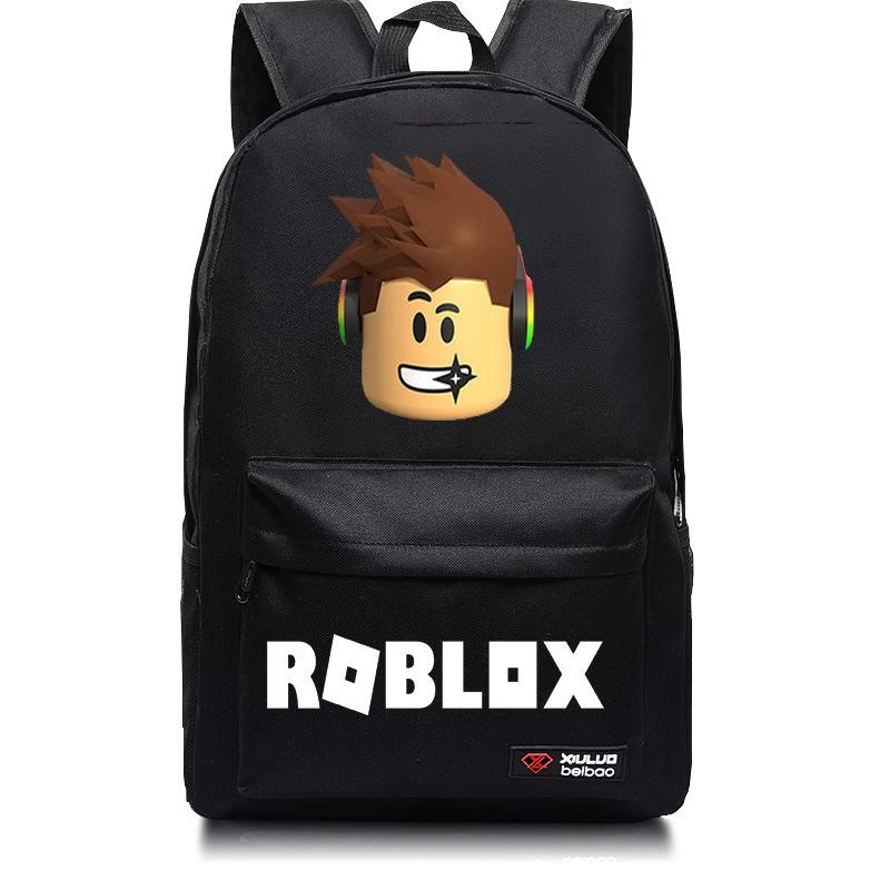ROBLOX Boys Backpack Canvas School Travel Bag Book Bag Daily Satchel Rucksack