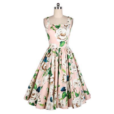 17d4e1c5f2386 Women Dress Summer Audrey Hepburn 50s 60s Vintage Dresses Vestidos Plus  Size Rockabilly Party Dress
